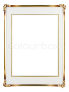 Metallic photo frame isolated on a white background