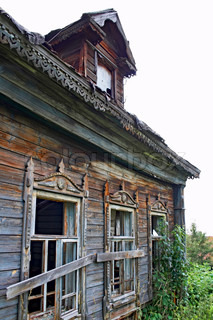 old abandoned house in russian village