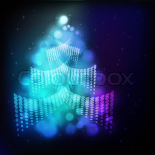 Eps Christmas background with Christmas tree Illustration for your design