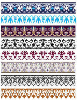 Traditional architectural ornament and stencil set for design