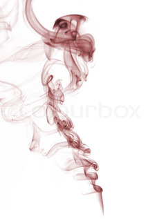 red smoke from white background  The abstract image of a smoke on a white background