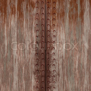 Grungy metal plate background with rivets This tiles seamlessly as a pattern