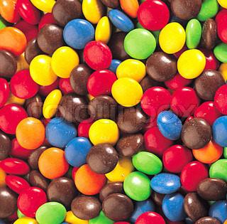 Small chocolate drops background