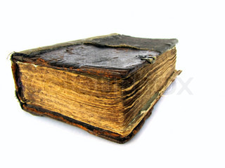 old book isolated on the white background
