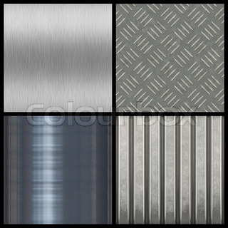 A collection of modern metal textures - most tile seamlessly as a pattern in any direction Larger versions of each are also available in my portfolio