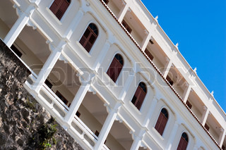 Historic architecture in Old San Juan Puerto Rico