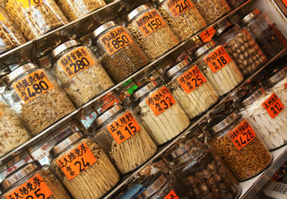 Traditional Chinese shop selling ingredients for food and medicine