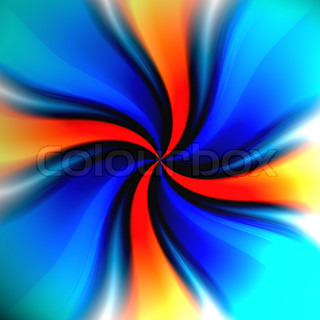 A colorful spiraling vortex background with a variety of colors