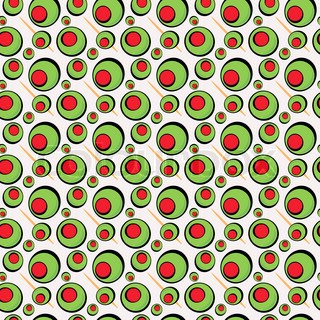 A green olives illustration that tiles seamlessly in a pattern in any direction