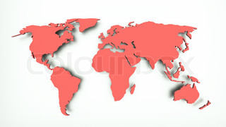 a 3d red map