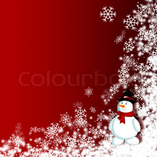 fairy background with snowman - computer generated