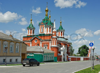 Old church in historical center of Kolomna. Russia
