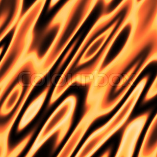 An orange flames background texture - very hot.