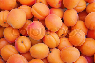 Fresh natural ripe apricot background