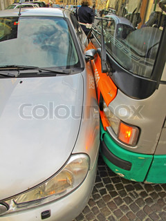 Car accident (bus vs passenger car)