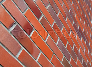 Red and brown brick wall