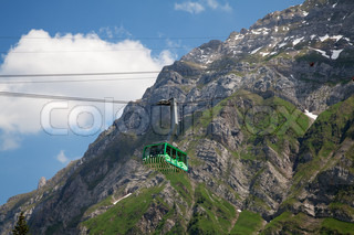 Cable car in swiss alps (Santis, St