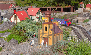 Miniature train model in the park