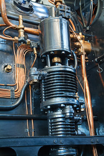 Close-up of the old steam engine