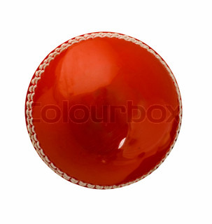 Cricket ball, isolated on white Classic red leather