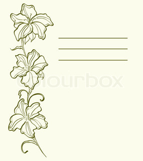 Vector of 'flower, outline, painting'