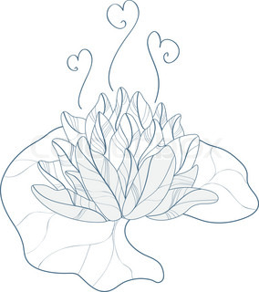 Vector of 'outline, flower, nature'