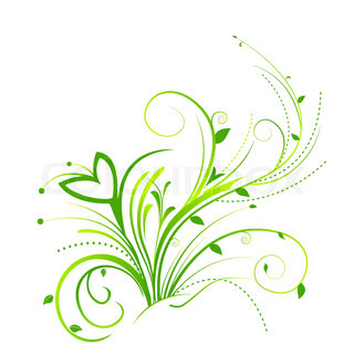 illustration of floral background on white background