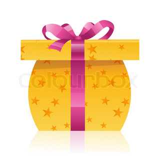 illustration of gift on white background