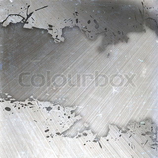 A worn and weathered brushed metal layout with plenty of copyspace