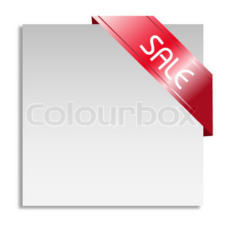 illustration of sale tag on white background