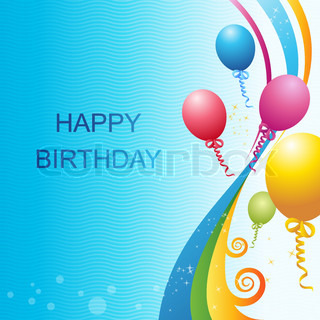illustrtion of birthday vector template