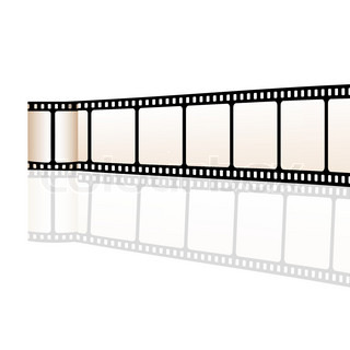 illustration of vector film reel on white background