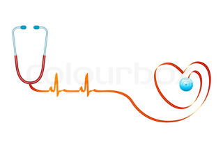 illustration of healthy heart on isolated background