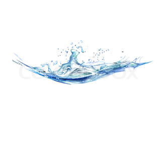 illustration of splash of water on isolated background