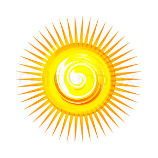 illustration of sun on white background