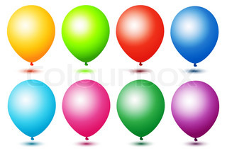 illustration of colorful ballons on white background