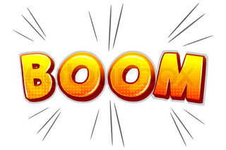 illustration of boom on white background