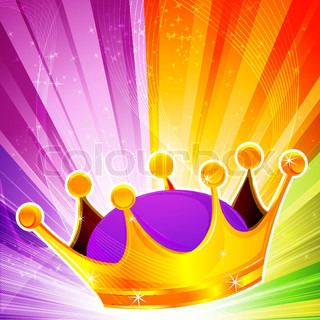 illustration of abstract crown