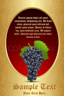 illustration of grapes with leaf