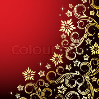 Holiday floral background - vector illustration for your design project.