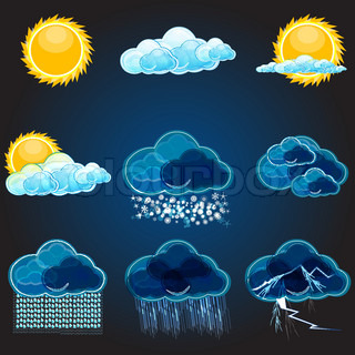 illustration of types of weathers