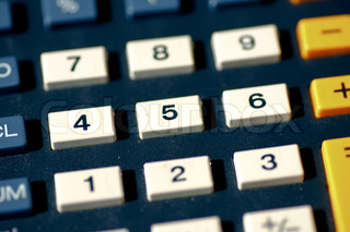 Calculator buttons with numbers