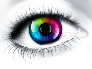 rainbow eye - computer generated  for your projects