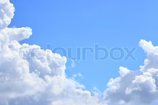 Sky and cumulus clouds, may be used as background