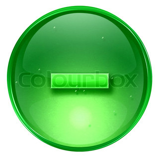 Hyphen icon green, isolated on white background
