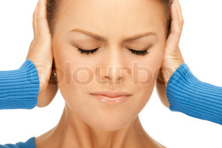 picture of woman with hands on ears