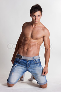 Portrait of a handsome muscular young man Shot in a studio