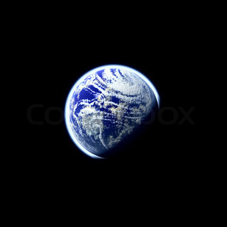 A glowing planet earth illustration over a black background