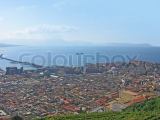 cityscape of town Naples Italy
