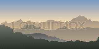 Vektor gradient af en bjerge .